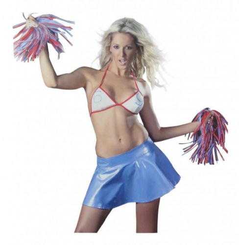 Cheerleader - Sexy PVC Fancy Dress (Wild Designs WD186)